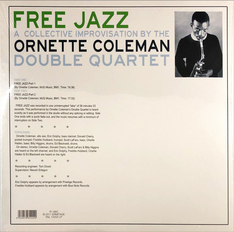 The Ornette Coleman Double Quartet - Free Jazz (Vinyl LP)(180g Reissue)