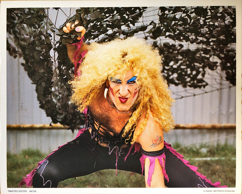 Twisted Sister Poster Card (25.4x20.2cm)