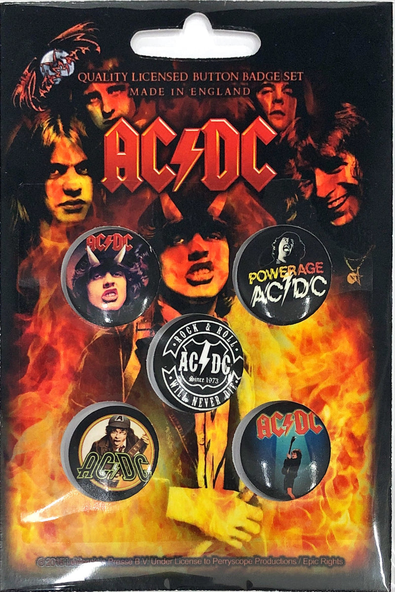 AC/DC - Highway To Hell (Button Badge Set)