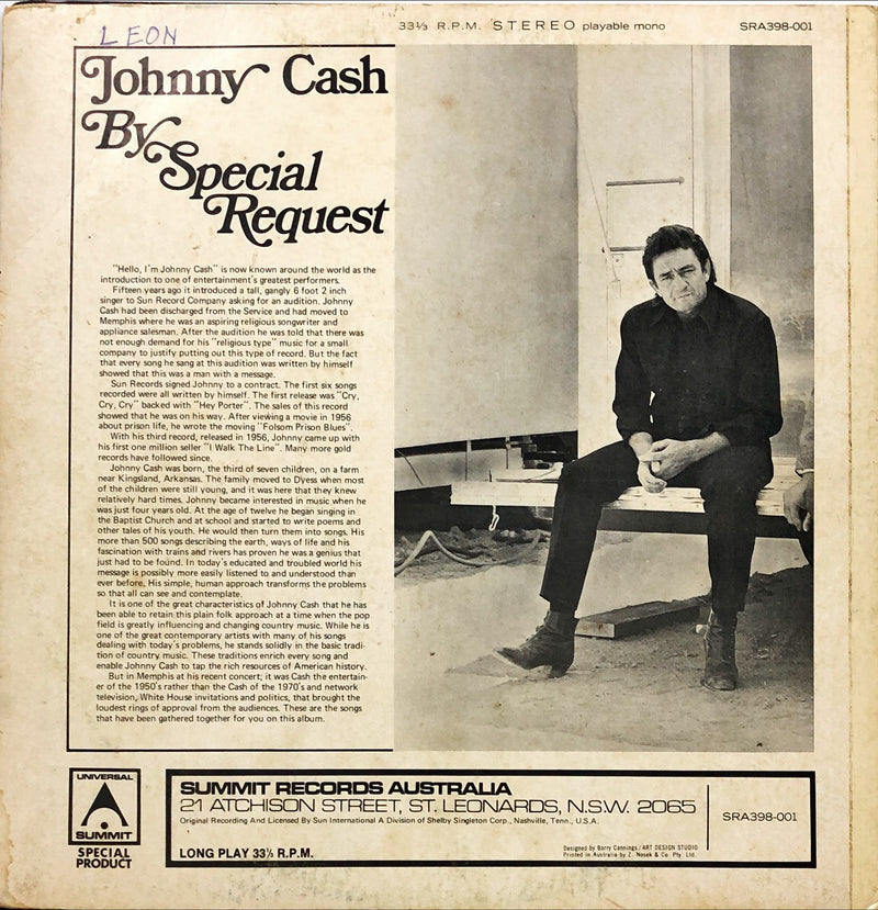 Johnny Cash - By Special Request (Vinyl LP)