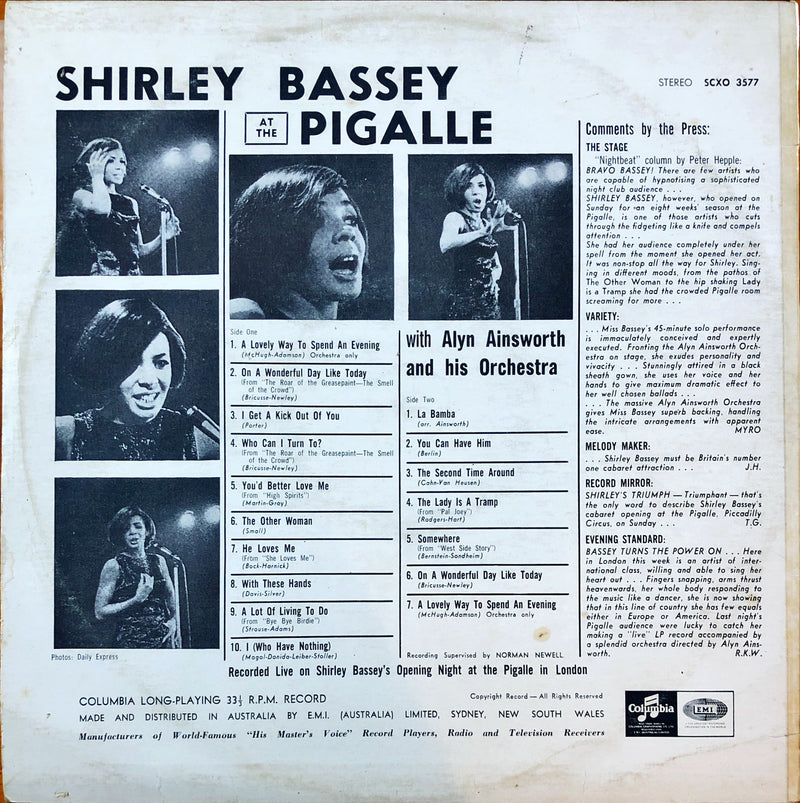 Shirley Bassey - Shirley Bassey At The Pigalle (Vinyl LP)