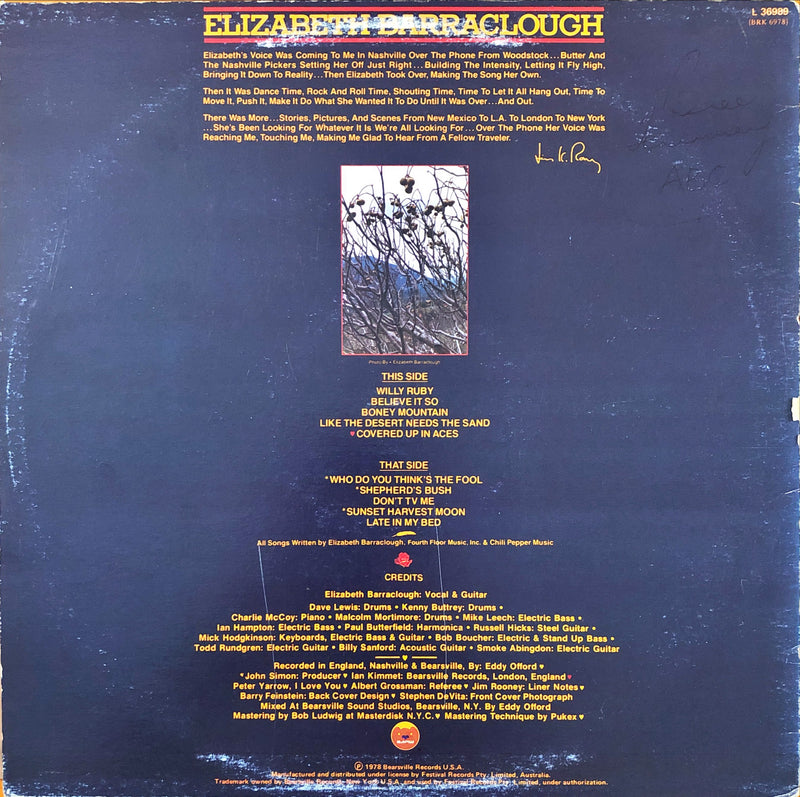 Elizabeth Barraclough - Elizabeth Barraclough (Vinyl LP)