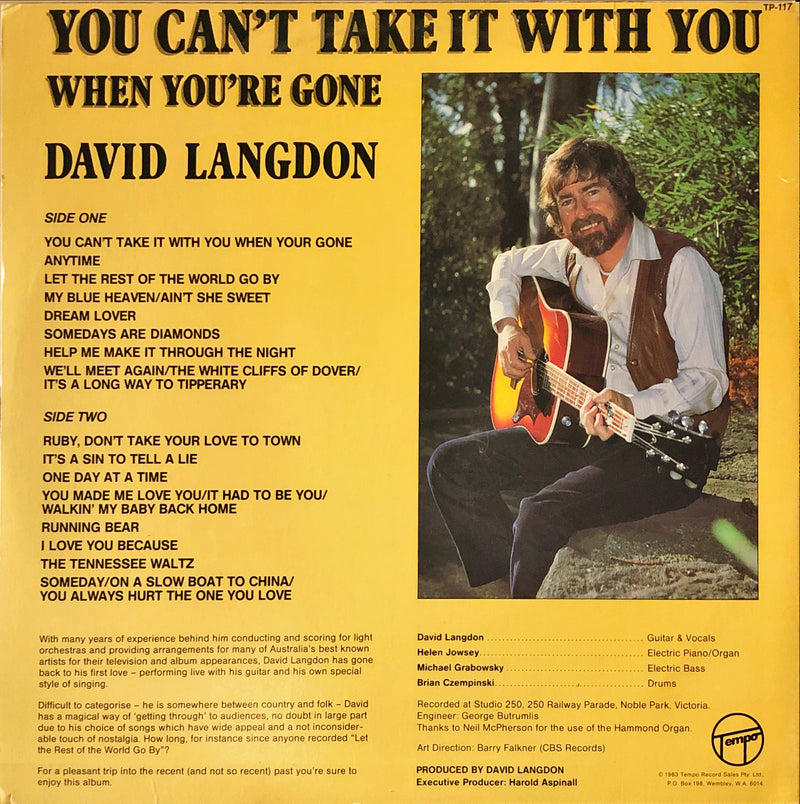 David Langdon - You Can't Take It With You When You're Gone