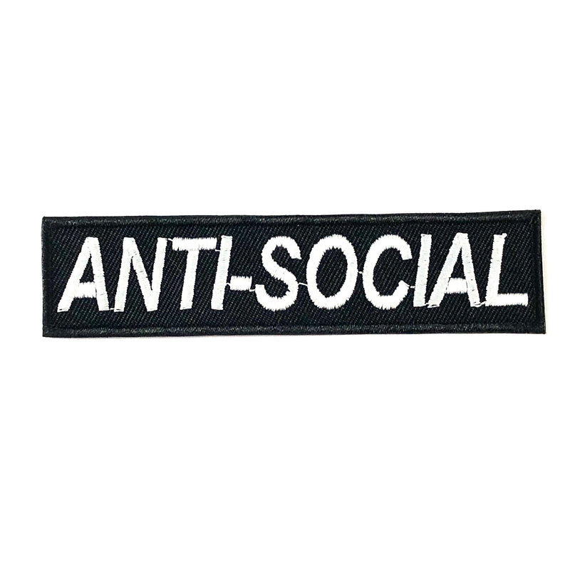 Anti-Social (Iron-On Patch)
