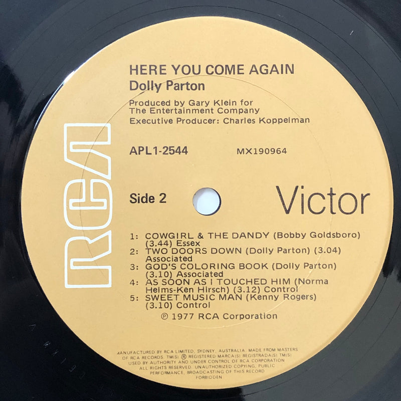 Dolly Parton - Here You Come Again (Vinyl LP)[Gatefold]