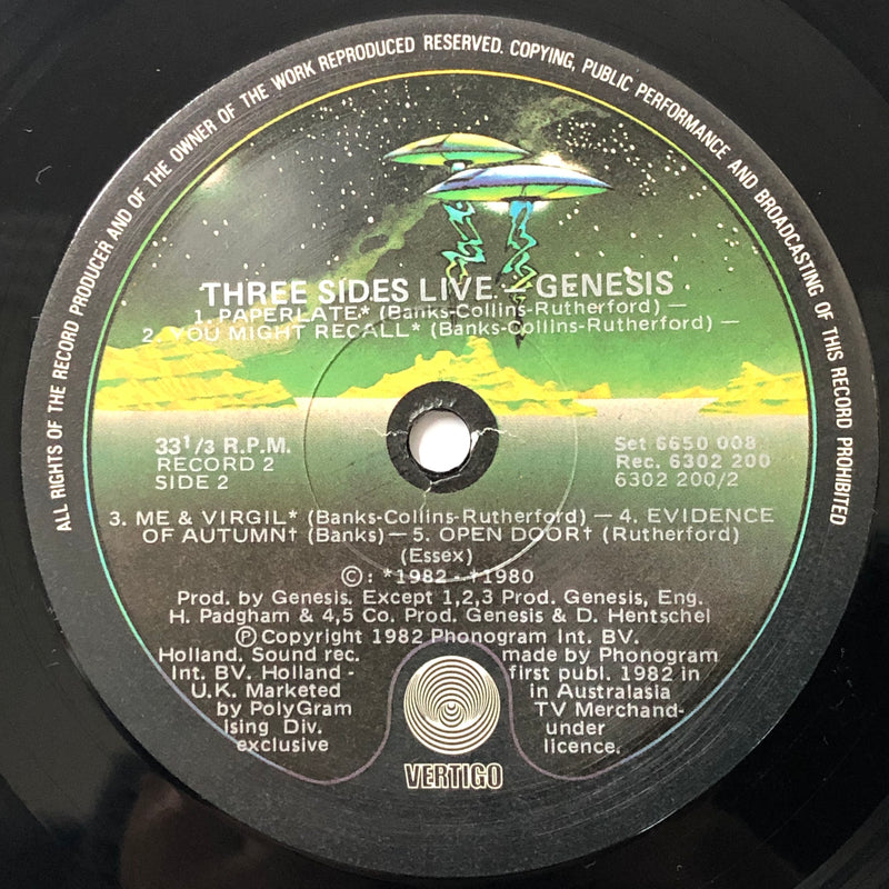 Genesis - Three Sides Live (Vinyl 2LP)[Gatefold]