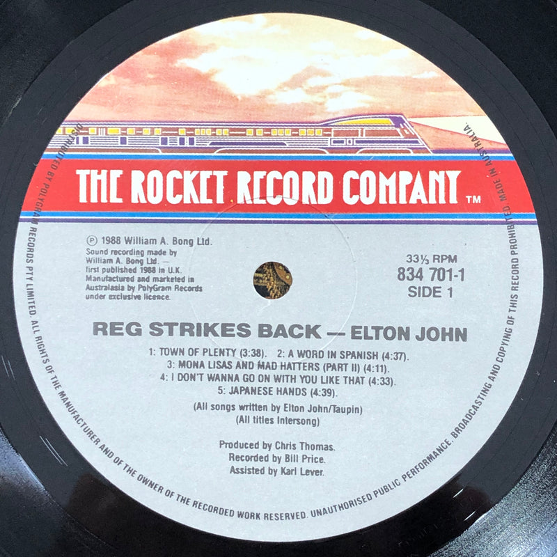 Elton John ‎– Reg Strikes Back (Vinyl LP)[Gatefold]