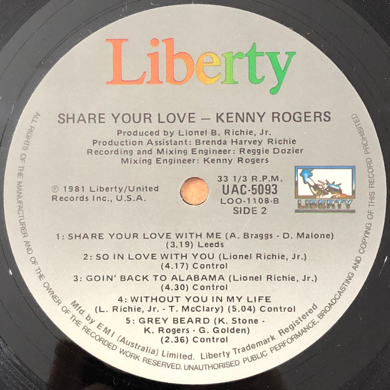 Kenny Rogers - Share Your Love (Vinyl LP)