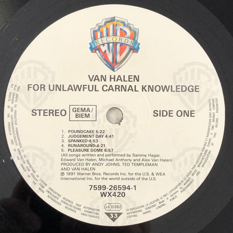 Van Halen - For Unlawful Carnal Knowledge (Vinyl LP)