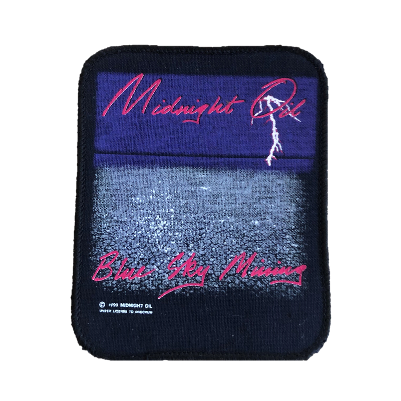Midnight Oil - Blue Sky Missing 1990 Sew-On Patch