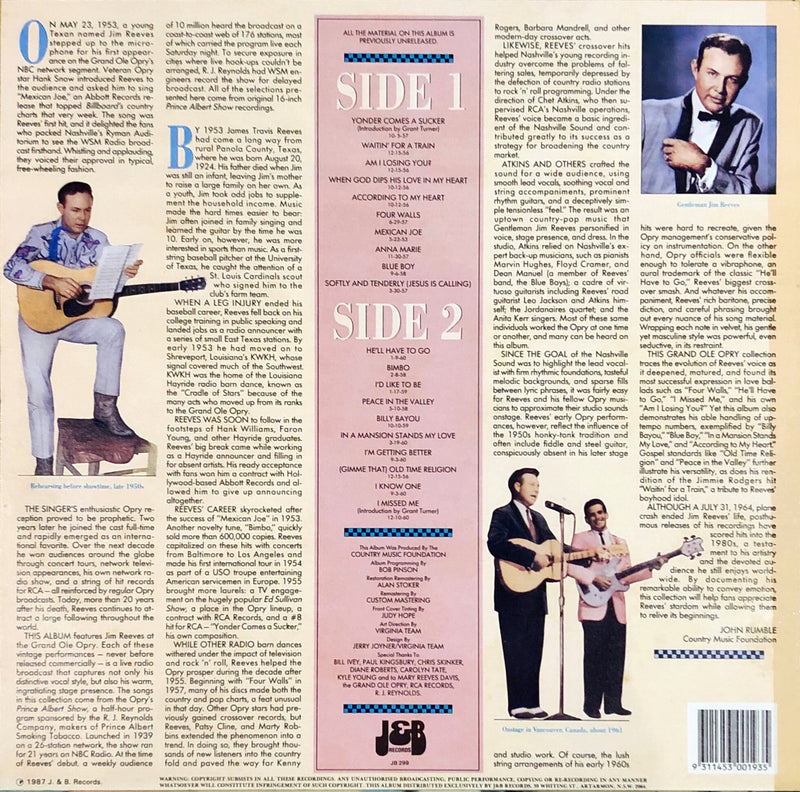 Jim Reeves - Live At The Opry