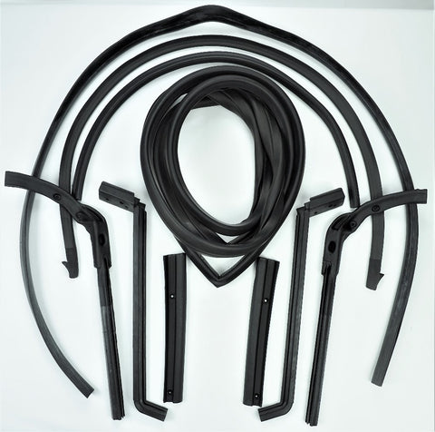 H293: 63-67 Hard Top Weatherstrip kit - 10 pc