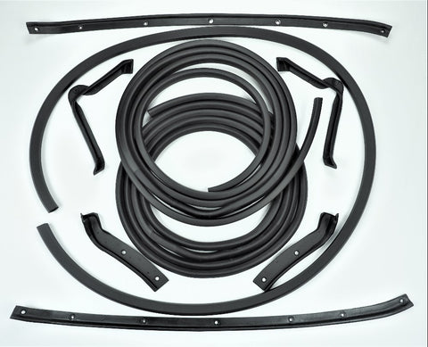K004: 64-67 Coupe Door & Body weatherstrip kit - 9 pc