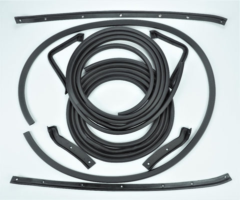 K004E: 63 Coupe Door & Body weatherstrip kit - 9 pc