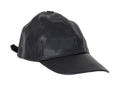 Leather Baseball Hat.