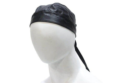 Genuine Motorcycle Biker Black Plain Skull Cap