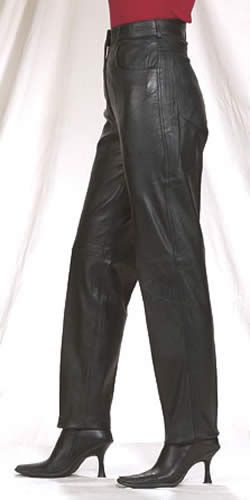 Women's stylish leather pants