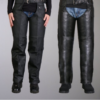 Leather Unisex Motorcycle Chaps