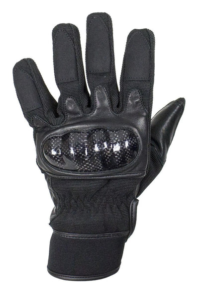 Genuine Black Leather Motorcycle Gloves