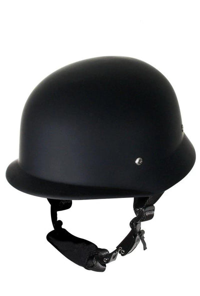 Simple flat Black German novelty helmet looks great right out of the box.