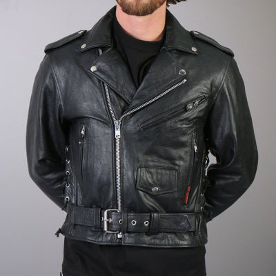 Front View. Police style Motorcycle Jacket