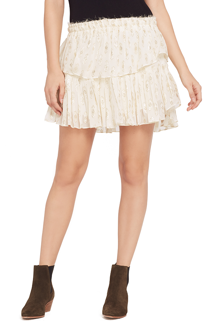 Ruffle Mini Skirt (Cream)