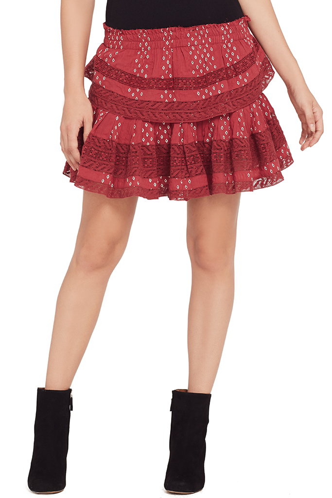 Ruffle Mini Skirt (Amour Ikat)