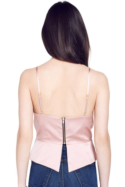 Mason by Michelle Mason | Blush Colored Bustier Cami at Shopatmilk.com - Milk Boutique Los Angeles | FREE DOMESTIC SHIPPING. Buy Mason by Michelle Mason Online