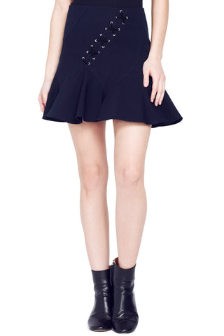 Flare Miniskirt with Lacing
