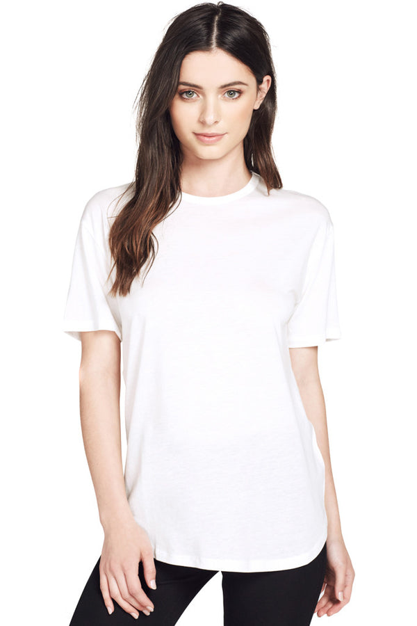 Joseph | S/S Round White Lightweight Knit Crewneck Tee in Off White at Shopatmilk.com - Milk Boutique Los Angeles | FREE DOMESTIC SHIPPING. Buy Joseph Online