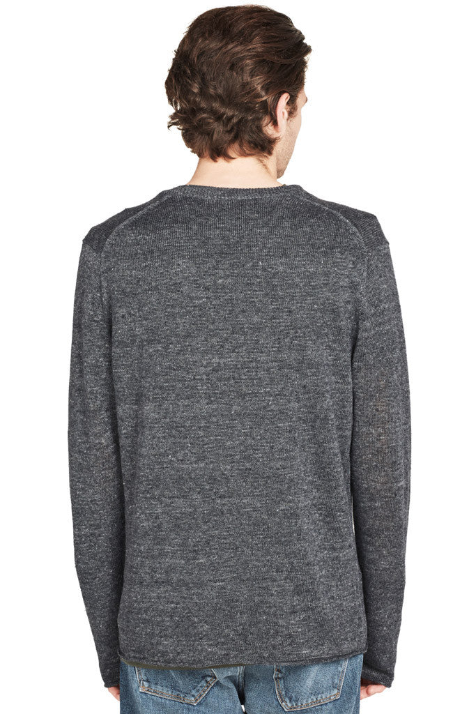 Raw Edge L/S Crew Sweater