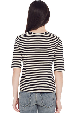 Midi Stripe Crop Tee