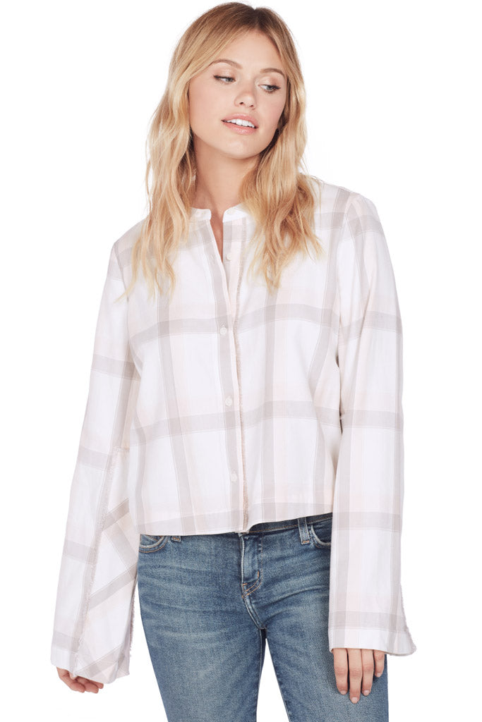 L/S Wide Sleeve Cropped Shirt