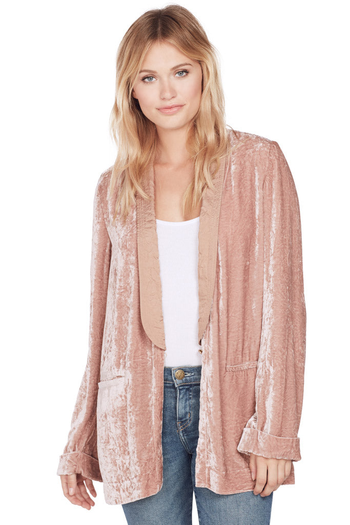 Creased Velvet Smocking Jacket