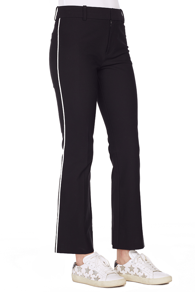 Cropped Trouser w/ Tuxedo Piping