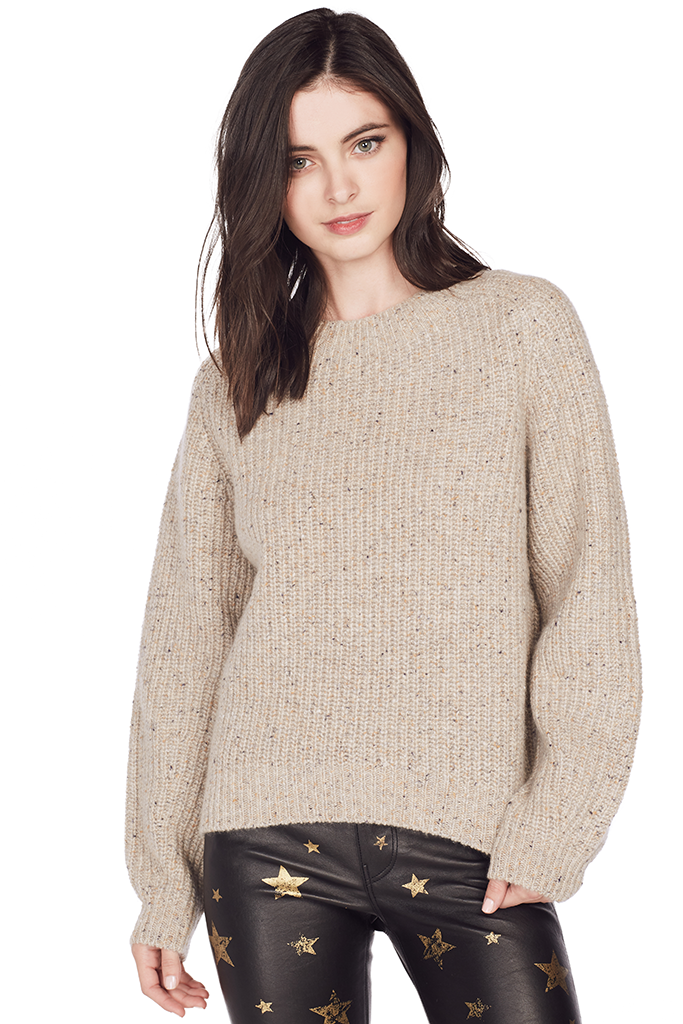 Cropped Saddle Pullover