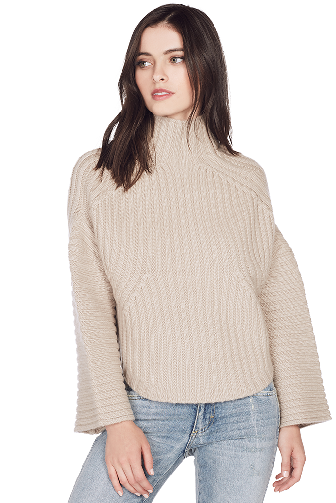 Gwen Ribbed Crop Pullover