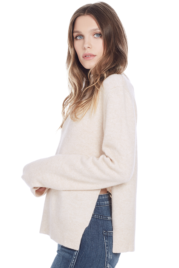 Side Slit Sweater (Bisque)