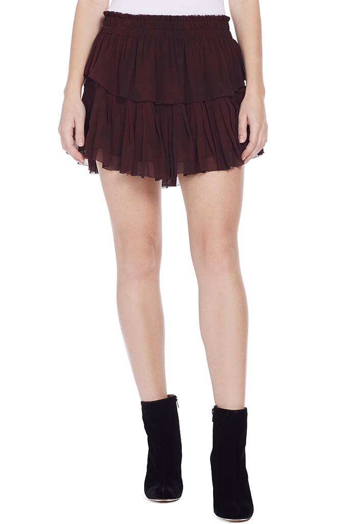 Ruffle Mini Skirt (Light Eggplant)