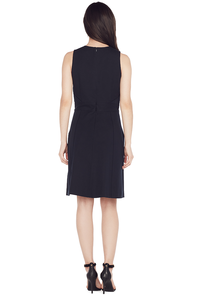 Sleeveless Dress w/ Grommet Detail