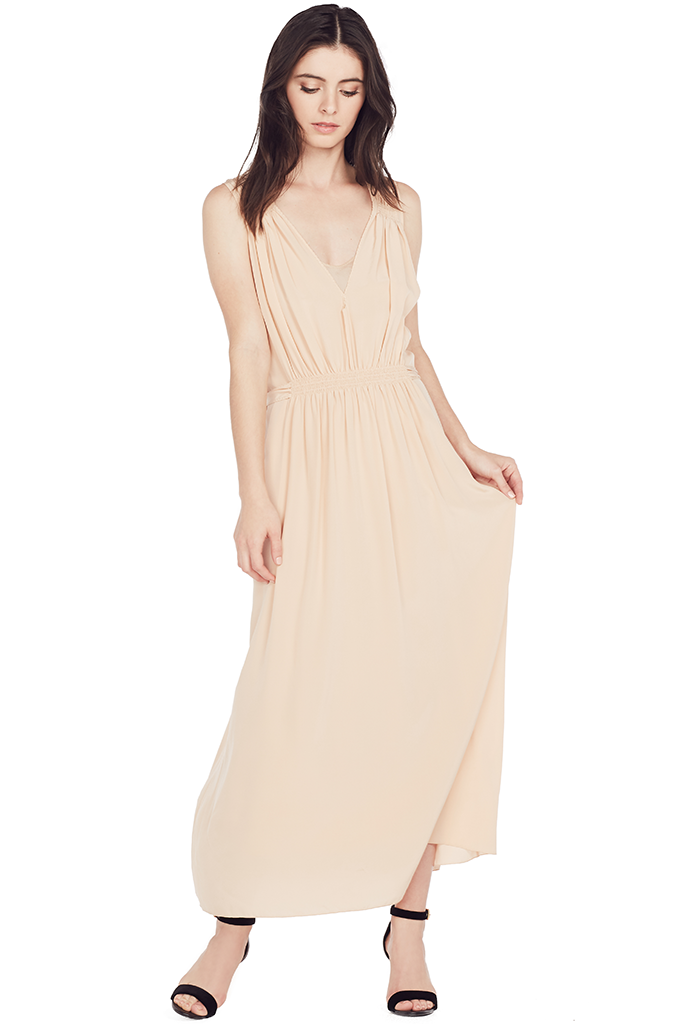 Crepe De Chine Sleeveless Dress