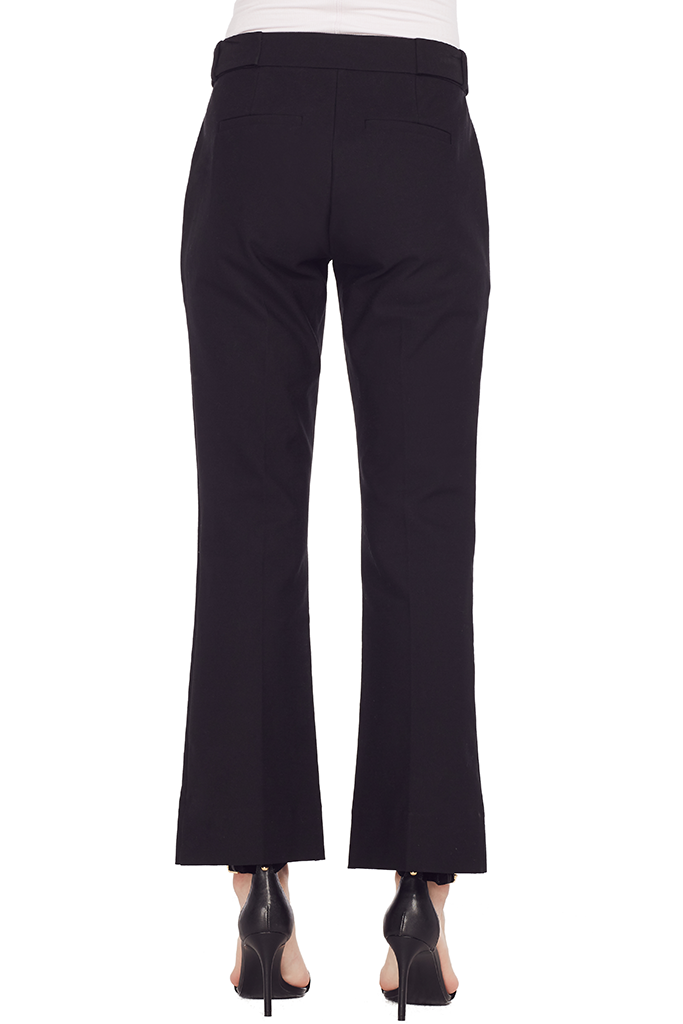 Cropped Flare Trouser w/ Grommet