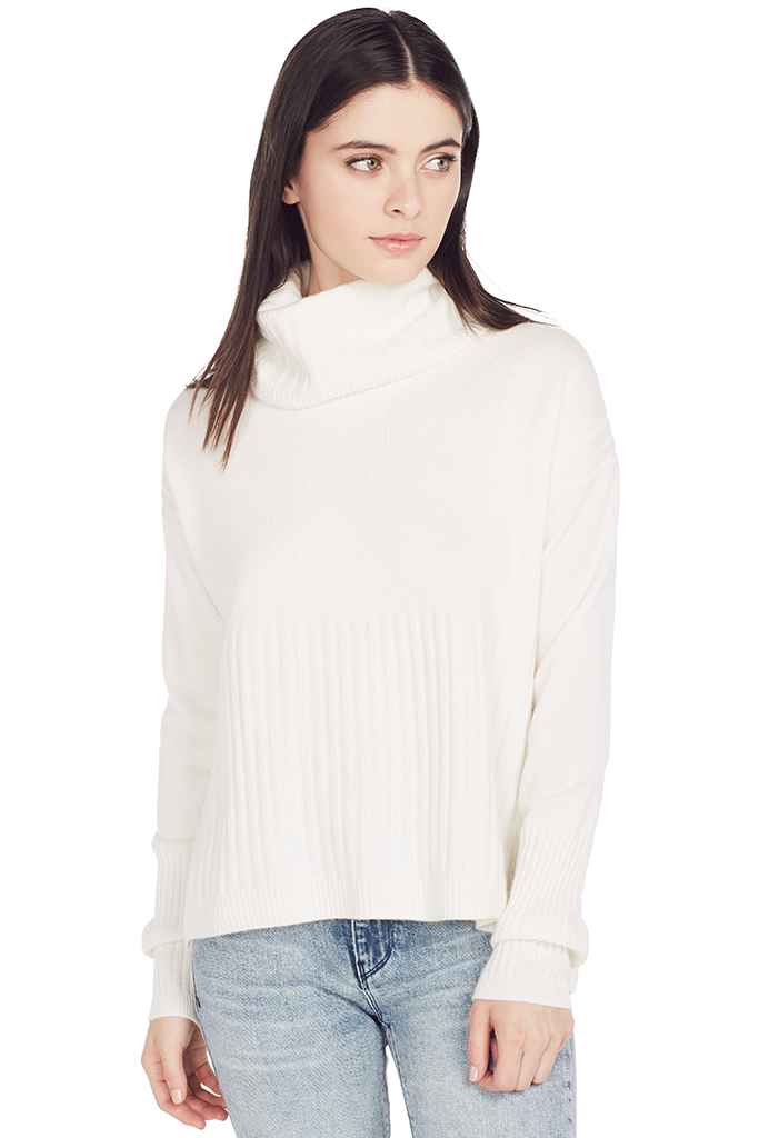 Turtleneck w/ Rib Detail