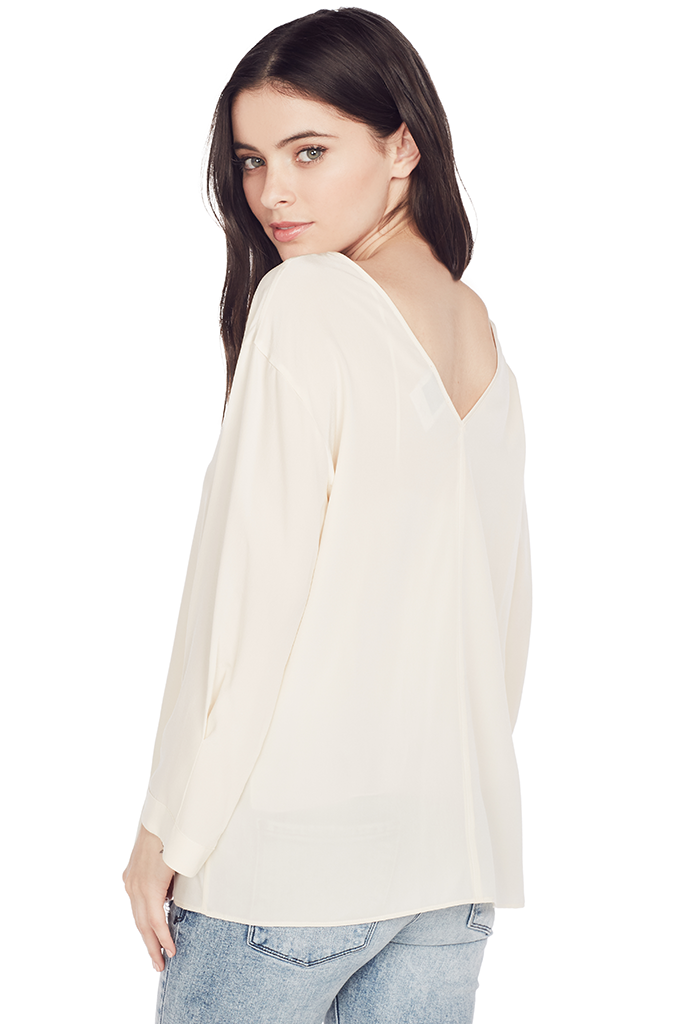 Crepe De Chine Silk T-Shirt