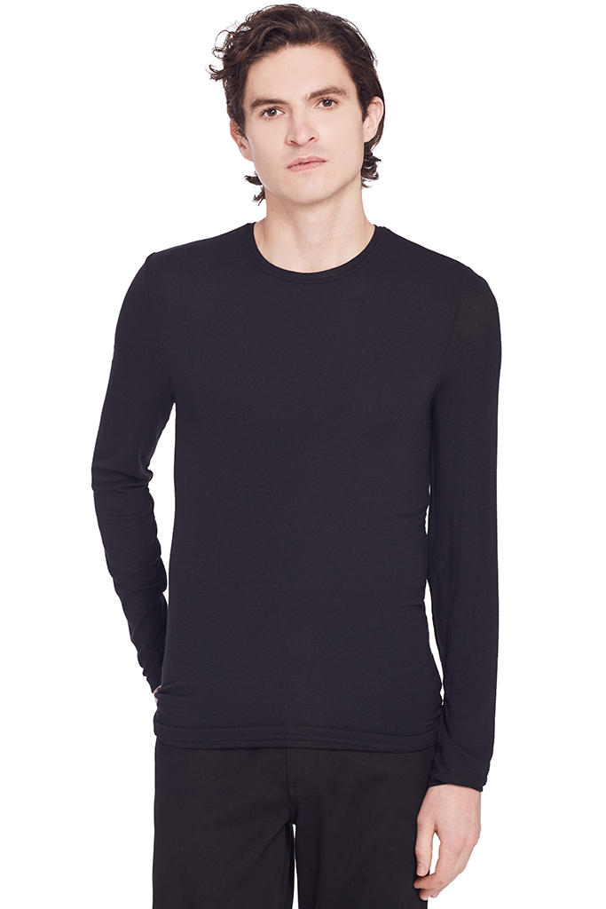 Raw Edge L/S (Black)