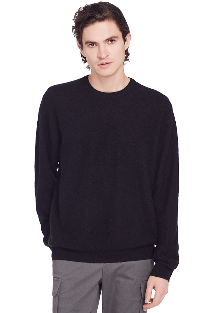 Oversized Crew Sweater (Black)