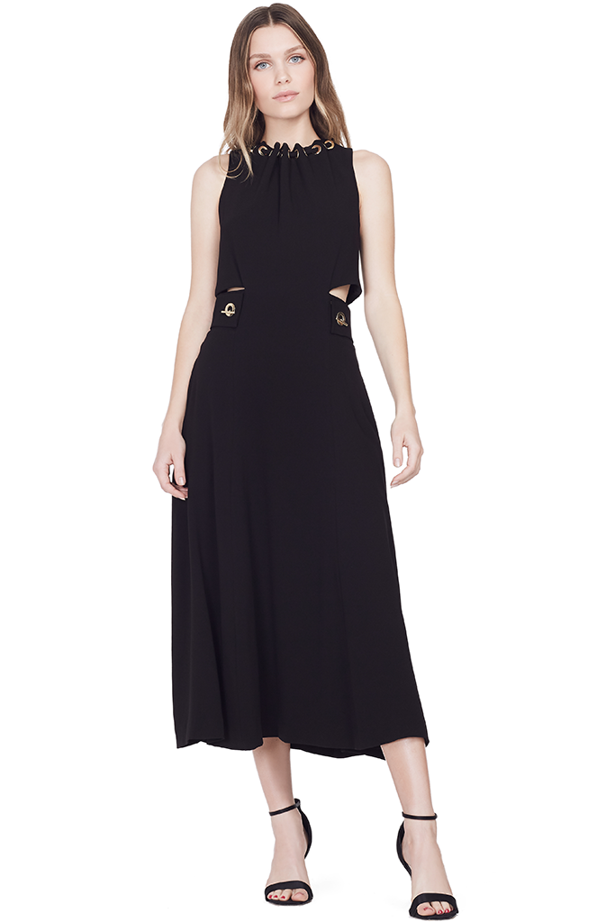 Sleeveless Dress w/ Grommet and Lacing