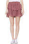 Ruffle Mini Skirt (Plum)
