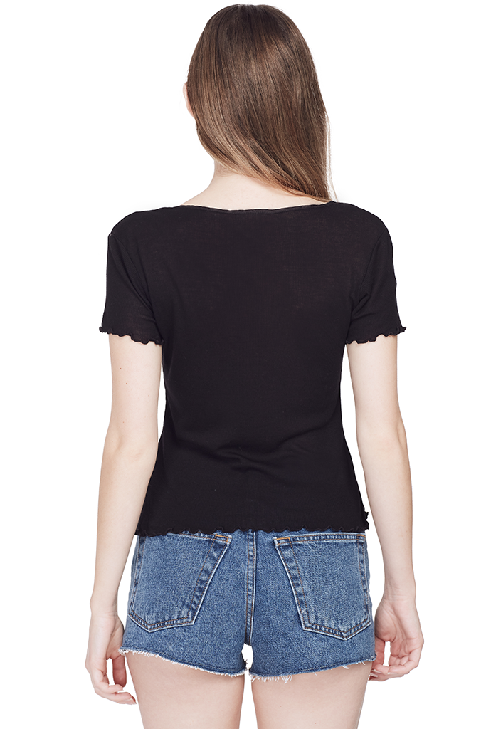 Ribbed Baby Tee (Black)
