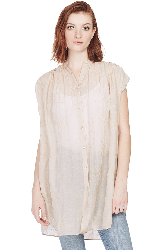 Co/Se Voile Oversized Shirt w/ Embroidery